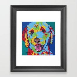 Labradoodle or Goldendoodle Pop Art Dog Pet Portrait Framed Art Print