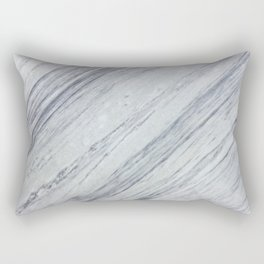 Gray white abstract geometrical stripes marble Rectangular Pillow