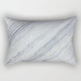 Gray white abstract geometrical stripes marble Rectangular Pillow