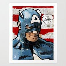 Captain America: God Bless America Art Print
