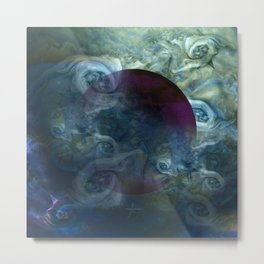"""Blue clouds on Saturn"" Metal Print"