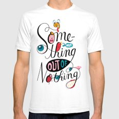 Something Out of Nothing  White Mens Fitted Tee SMALL