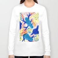 jungle Long Sleeve T-shirts featuring Jungle by Booze Potato