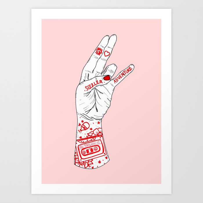 I Heart Adventure Art Print