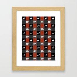 CABIN CHECK Framed Art Print
