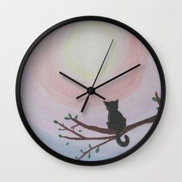 Watching a Hopeful Sunset Wall Clock