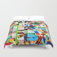 bianca green Duvet Covers featuring Bianca (stripes 22) by Wayne Edson Bryan