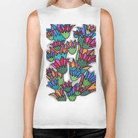 leah flores Biker Tanks featuring Flores by Carolina Delleteze