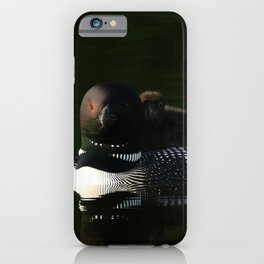 Mother and baby loon iPhone Case