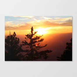 Sunset from the Sandias Canvas Print