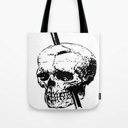 The Skull of Phineas Gage Vintage Illustration Tote Bag