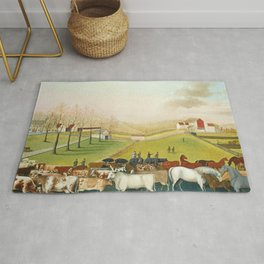 The Cornell Farm by Edward Hicks Rug