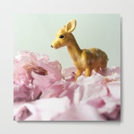 The Fawn & The Blossoms Metal Print