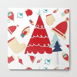 Christmas tree red Metal Print