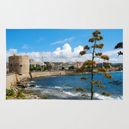 Seascape of Alghero Sardinia Italy Rug