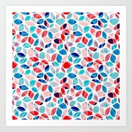 Flower Petals Colorful Pattern Kunstdrucke