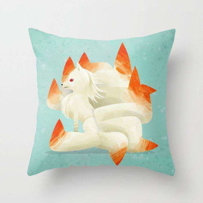 038 Ninetales Throw Pillow