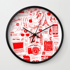 Graphics Design student poster Wall Clock