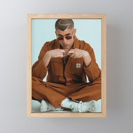BAD BUNNY tour 2020/2021 macco#3 Framed Mini Art Print