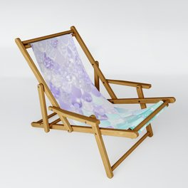 Mermaid Iridescent Purple and Teal Pattern Sling Chair