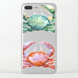 Colorful Crabs Clear iPhone Case