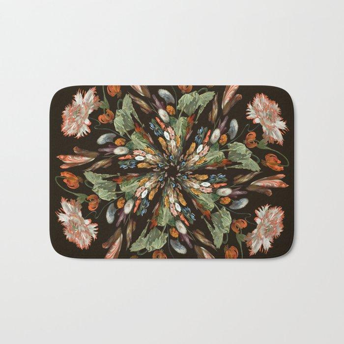 Flemish Floral Mandala 3 Bath Mat