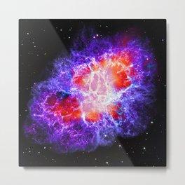 The Crab Nebula in Purple Metal Print