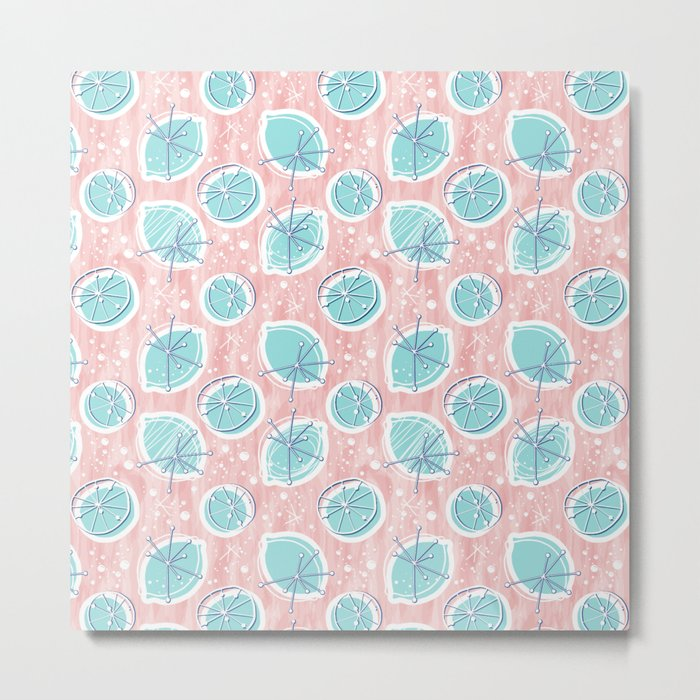 Atomic Lemonade_Rose Quartz Metal Print
