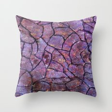 Colored stone wall Throw Pillow