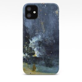James Abbott McNeill Whistler Nocturne in Black and Gold The Falling Rocket iPhone Case