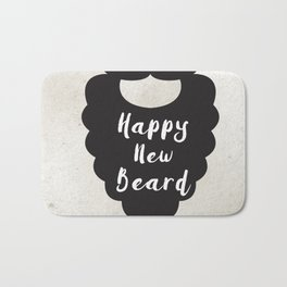 Happy New Beard Bath Mat