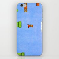 mario bros iPhone & iPod Skins featuring Super Mario Bros. by Theodore Parks