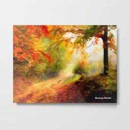 Autumn Trail Metal Print
