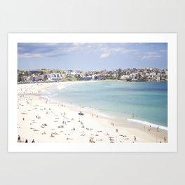 Bondi Beach White Sand Art Print