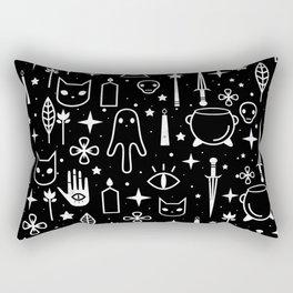 Spirit Symbols Black Rectangular Pillow