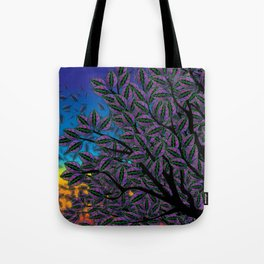 Dusk in The Forest of Glass Tote Bag