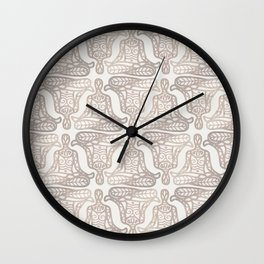 lotus pose Wall Clock