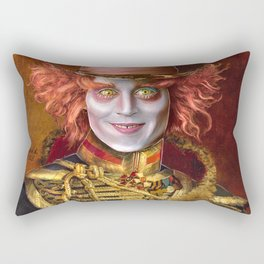 Mad Hatter General Portrait Painting Fan Art Rectangular Pillow