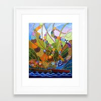 happiness Framed Art Prints featuring Happiness by Vargamari