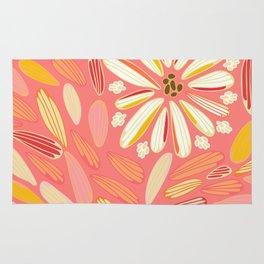 petaled dandelion pink perfection Rug
