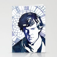 sherlock Stationery Cards featuring Sherlock by Jackie Sullivan