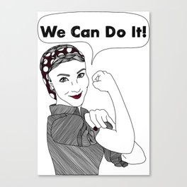We Can Do It!  |  Women Power Canvas Print