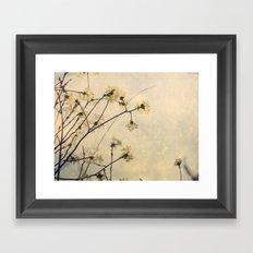 Spring Branches in White Botanical Framed Art Print