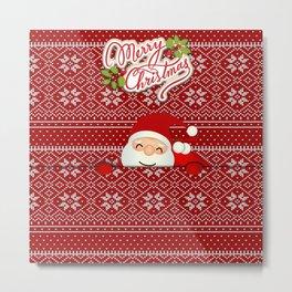 Noel Surprise Hiding Christmas Gift Metal Print