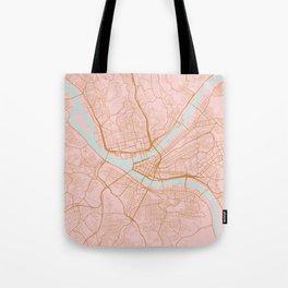 Pittsburgh map, Pennsylvania Tote Bag