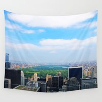 central park Wall Tapestries featuring Central Park by NaturallyJess