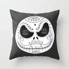 Jack's Skull Sugar (Vector Mexican Skull) Throw Pillow