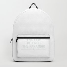 Cybersecurity Shirt The Few The Proud The Paranoid Backpack
