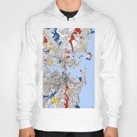 mondrian Hoodies featuring Sydney mondrian by Mondrian Maps