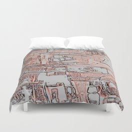 Apartments in the Sky. Duvet Cover